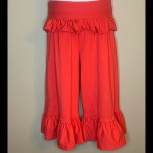 Persnickety Coral Ruffle Pants 18-24m fold waist